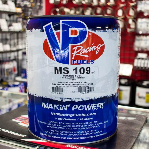 VP Racing Fuels 2222 MS109 UnLeaded 5 Gallon Pail